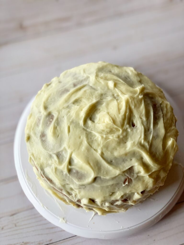 Carrot cake with cream cheese frosting. The best recipe icombination in the world.