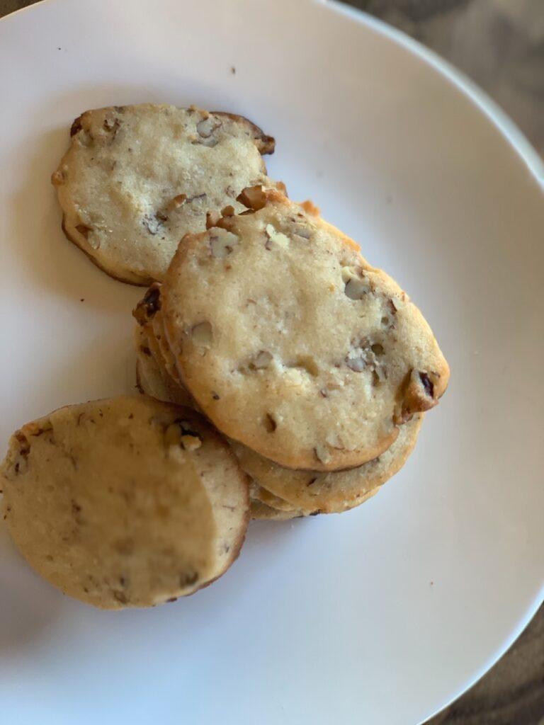 Ice box cookies. Bite size delights!