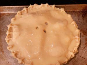 Caramel apple piecaken with french vanilla cinnamon cake and caramel apple buttercream frosting