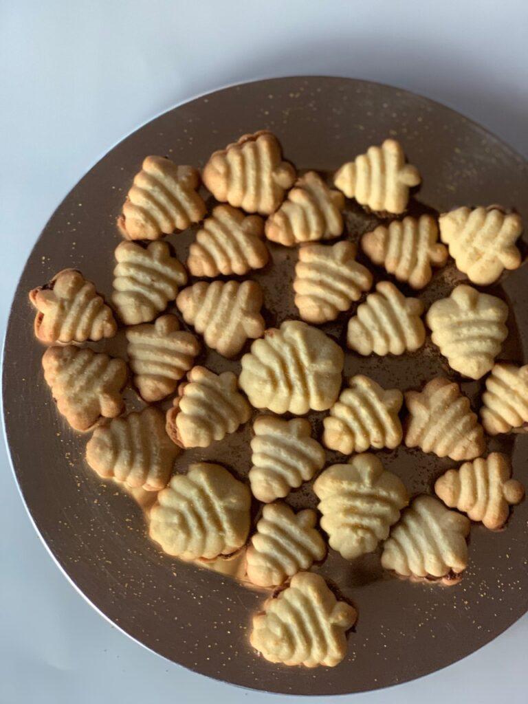 Christmas tree spritz cookies