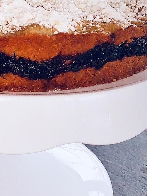 blueberry orange shortbread cake