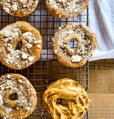 whipped coffee honey crumb donuts