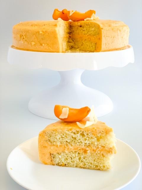 low calorie honey apricot cream cake