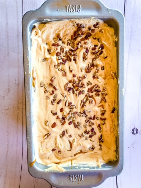 Sensational salted caramel pecan ice cream