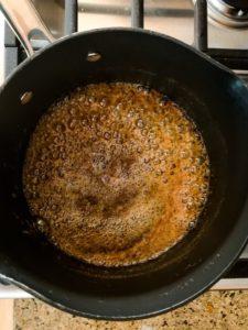 Salted caramel pecan no churn ice cream