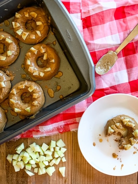 Guilt free baking cinnamon donuts