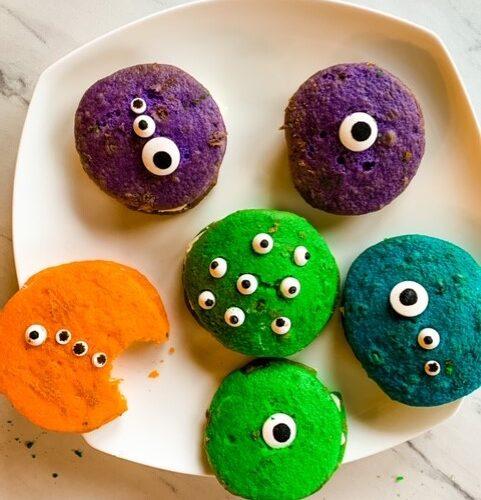 Creepy Monster mash whoopi pies