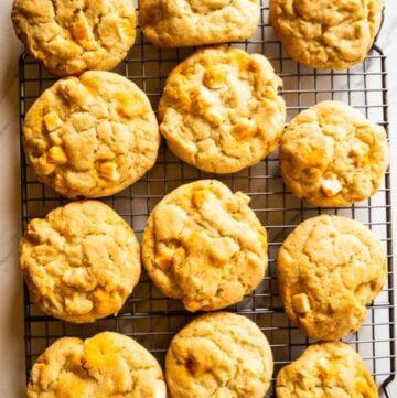 pumpkin blondie cookies