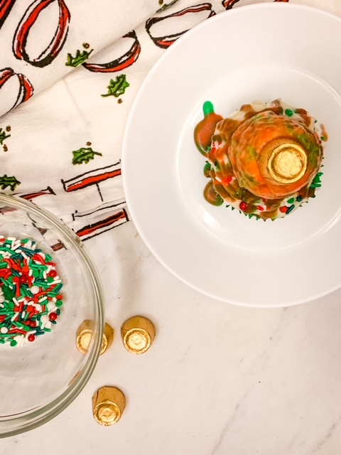 Christmas Ornament mirror glaze cupcakes