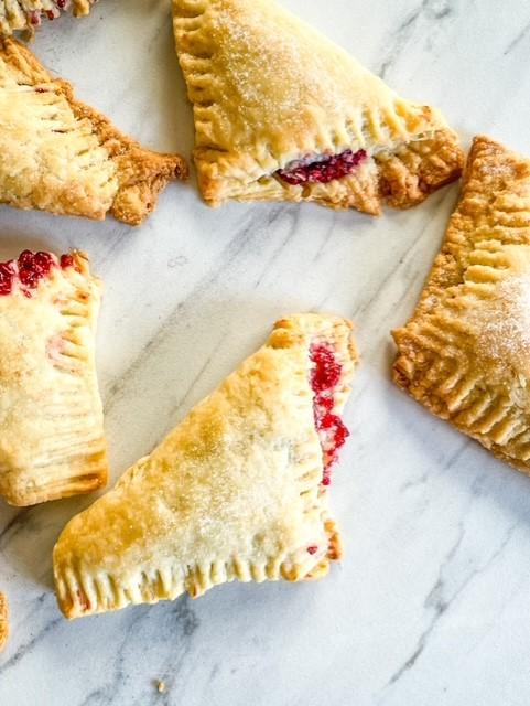 Homemade Raspberry turnovers